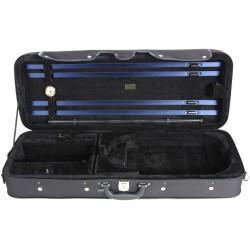 Oblong viola foam case Classic 39-42 M-case Black - Black