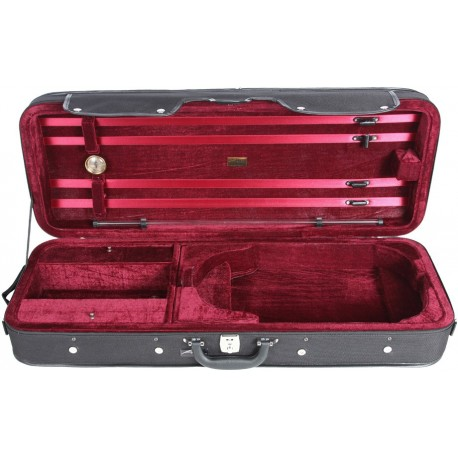 Oblong viola foam case Classic 39-42 M-case Black - Burgundy