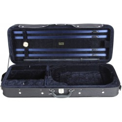 Oblong viola foam case Classic 39-42 M-case Black - Navy Blue