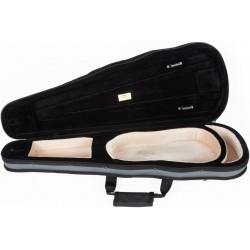 Foam violin case Dart-150 1/4 M-case Gray - Beige