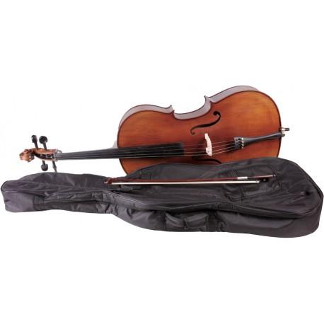 Wiolonczela 4/4 M-tunes No.160 drewniana - uczniowska