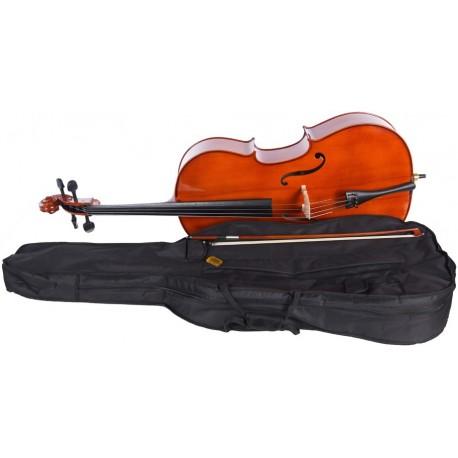 Cello 1/2 M-tunes No.100 hölzern - spielbereit