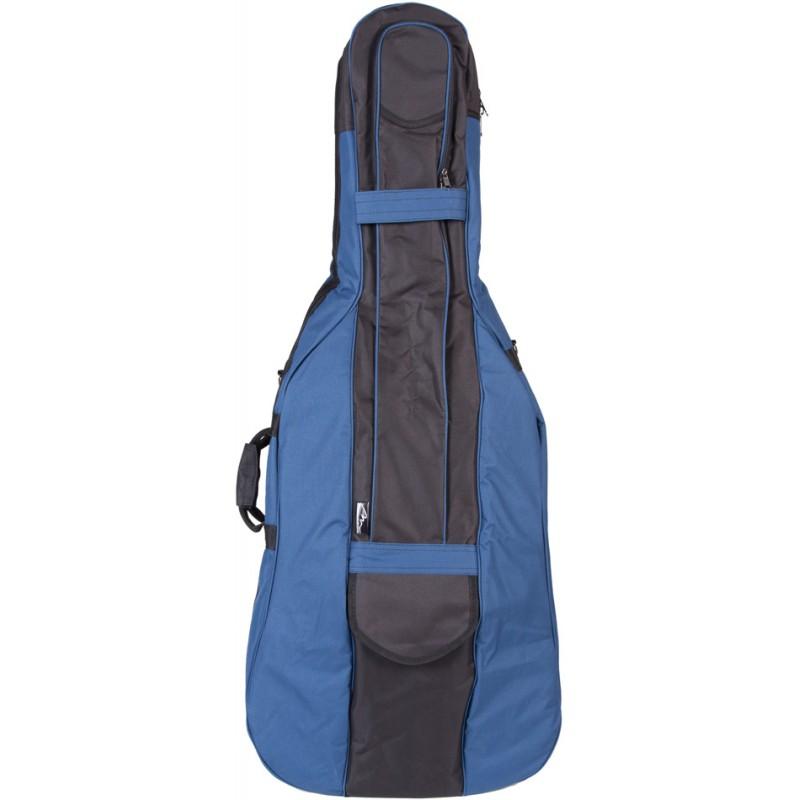 Cello Cover Gig Bag 4/4 M-case Black - Blue - mcase