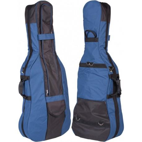 Cello Tasche GigBag 1/2 M-case Schwarz -Blau