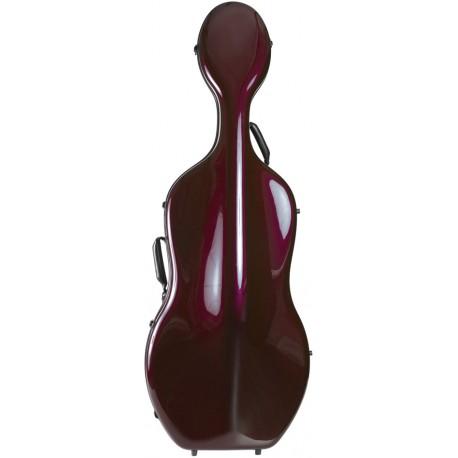 Karbon futerał wiolonczelowy wiolonczela Classic 4/4 M-case Bordowy