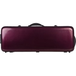 Fiberglass viola case Oblong 38-43 M-case Burgundy Shiny