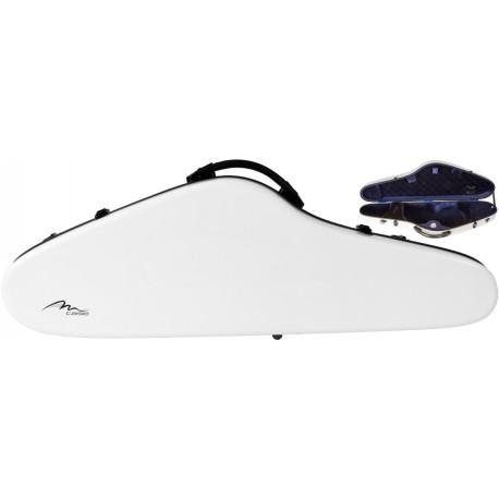 Étui pour violon en fibre de verre Fiberglass SlimFlight 4/4 M-case Blanc