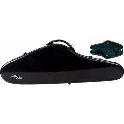 Fiberglass violin case SlimFlight 4/4 M-case Black - Green