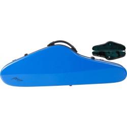 Étui pour violon en fibre de verre Fiberglass SlimFlight 4/4 M-case Bleu - Vert