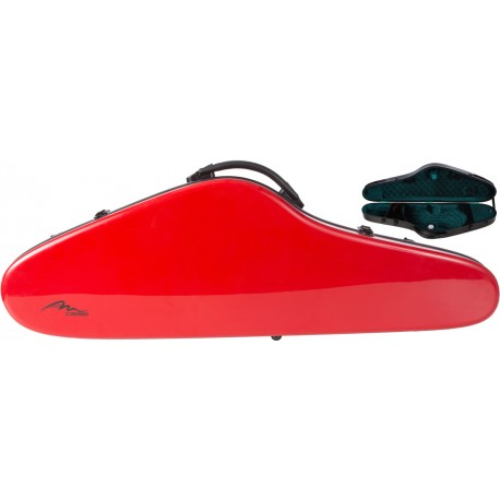 Fiberglass violin case SlimFlight 4/4 M-case Red - Green