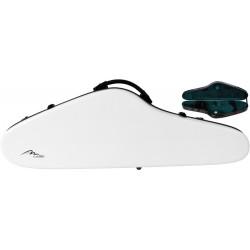 Étui pour violon en fibre de verre Fiberglass SlimFlight 4/4 M-case Blanc - Vert
