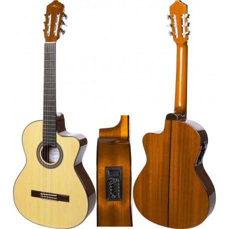 """Electro classical guitar 4/4 39"""" M-tunes MTCG11"""