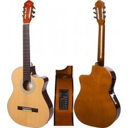 """Guitare electro classique 4/4 39"""" M-tunes MTC209CE"""