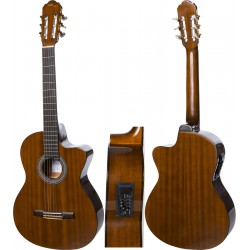 "Elektro Klassische Gitarre 4/4 39"" M-tunes MTC309CE"
