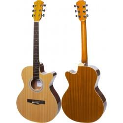 """Guitare acoustique 4/4 40"""" M-tunes MTF47C"""