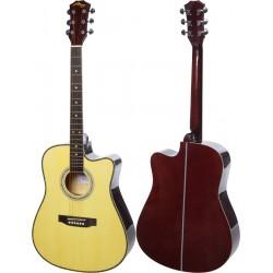 """Guitare acoustique 4/4 41"""" M-tunes MTF168C"""