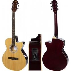 """Guitare électro acoustique 4/4 40"""" M-tunes MTF238CE"""