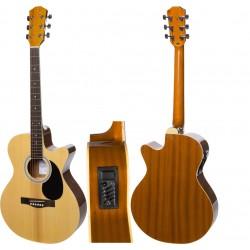 """Guitare électro-acoustique 4/4 40"""" M-tunes MTF248CE"""