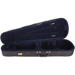Étui en foam pour violon Dart-120 1/4 M-case Noir - Bleu Marine