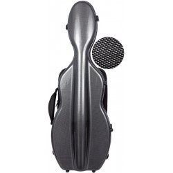 Shaped violin case Fiberglass UltraLight 4/4 M-case Black Point