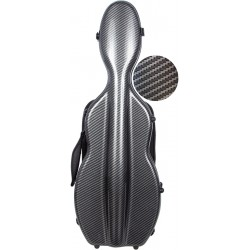 Shaped violin case Fiberglass UltraLight 4/4 M-case Black Special