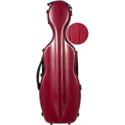 Shaped violin case Fiberglass Steel Effect 4/4 M-case Burgundy