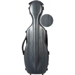 Étui pour violon en fibre de verre Fiberglass Steel Effect 4/4 M-case Gris