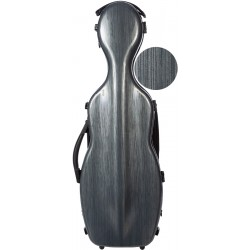 Shaped violin case Fiberglass Steel Effect 4/4 M-case Grey