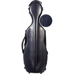 Shaped violin case Fiberglass Steel Effect 4/4 M-case Navy Blue