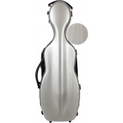 Shaped violin case Fiberglass Steel Effect 4/4 M-case Silver