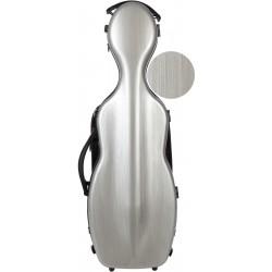 Violinkoffer Geigenkasten Glasfaser Steel Effect 4/4 M-case Silbern