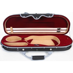 Étui en foam pour violon UltraLight 4/4 M-case Noir - Bordeaux
