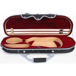 Geigenkoffer Schaumstoff UltraLight 4/4 M-case Schwarz - Weinrot
