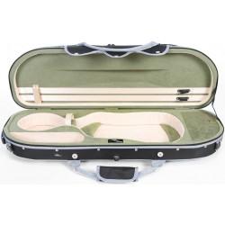 Étui en foam pour violon UltraLight 4/4 M-case Noir - Olive