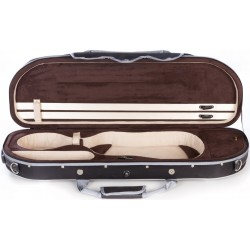 Foam violin case UltraLight 4/4 M-case Black - Brown