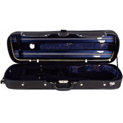 Violinkoffer Geigenkasten Geigenkoffer Holz 4/4 Lord M-case Marineblau