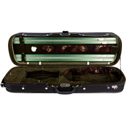 Oblong Hard Violin Case 4/4 Lord M-case Green
