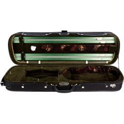 Violinkoffer Geigenkasten Geigenkoffer Holz 4/4 Lord M-case Grün