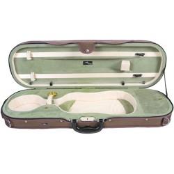 Geigenkoffer Schaumstoff Premium 4/4 Mcase Beige - Olivgrün