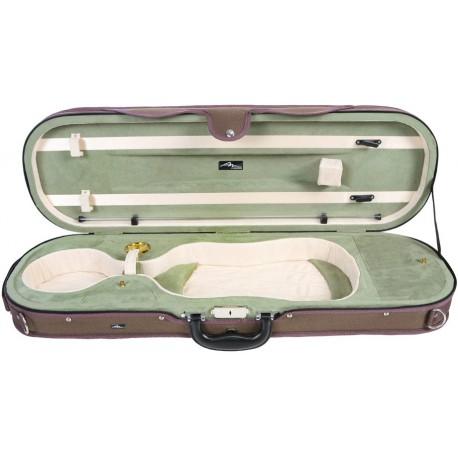 Futerał skrzypcowy skrzypce Premium 4/4 Mcase  Beżowo - Oliwkowy