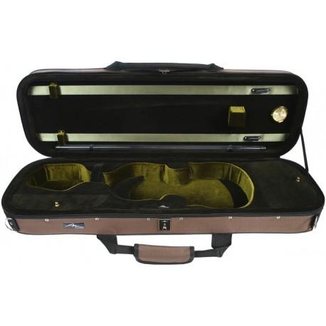 Futerał skrzypcowy skrzypce Premium 4/4 Mcase Beżowo - Zielony
