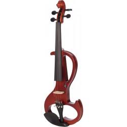 Elektrische Violine, E-geige 4/4 M-tunes MTSE406E hölzern - spielbereit + Profi