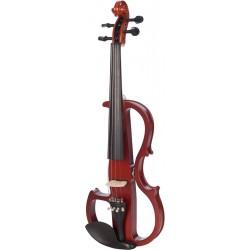 Elektrische Violine, E-geige 4/4 M-tunes MTSE408E hölzern - spielbereit + Profi