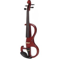 Elektrische Violine, E-geige 4/4 M-tunes MTSE110B-EFP hölzern - spielbereit + Profi