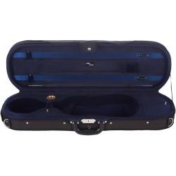 Geigenkoffer Schaumstoff Premium 4/4 Mcase Schwarz - Marineblau