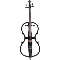 Elektrische cello, E-cello 4/4 M-tunes MTWE008BE hölzern - spielbereit + Profi