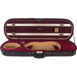 Étui en foam pour violon Premium 4/4 Mcase Noir - Bordeaux