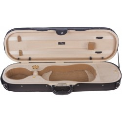 Foam violin case Premium 4/4 Mcase Black - Cream