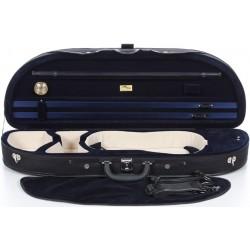 Geigenkoffer Schaumstoff Classic 4/4 M-case Schwarz - Marineblau