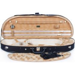Geigenkoffer Schaumstoff Classic 4/4 M-case Schwarz - Honiggelb Strukturell no.1